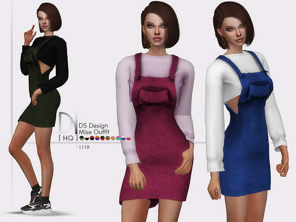 Sims 4 DS Design Mise Outfit by DarkNighTt at TSR