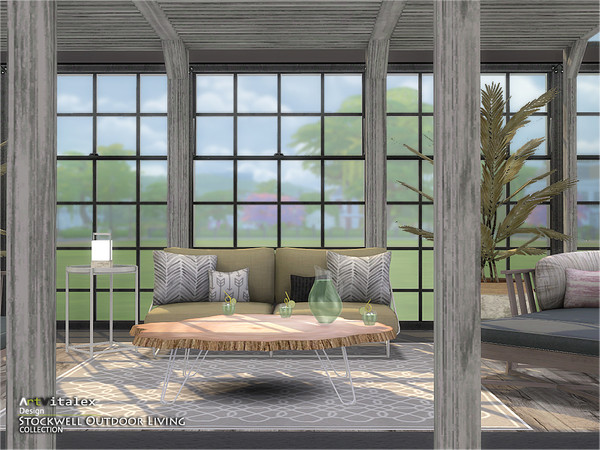Stockwell Outdoor Living by ArtVitalex at TSR image 659 Sims 4 Updates