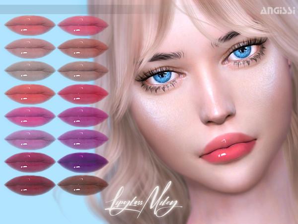 Sims 4 Miley lipgloss by ANGISSI at TSR