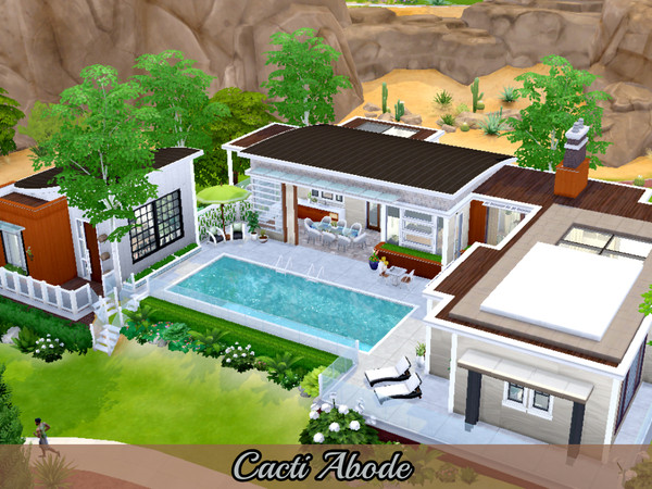 Cacti Abode modern home by Mini Simmer at TSR image 660 Sims 4 Updates