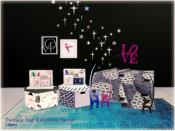 Twinkle Star Kidsroom Decor by ung999 at TSR image 6617 Sims 4 Updates