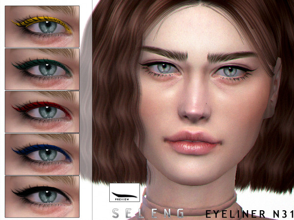 Sims 4 Eyeliner N31 by Seleng at TSR