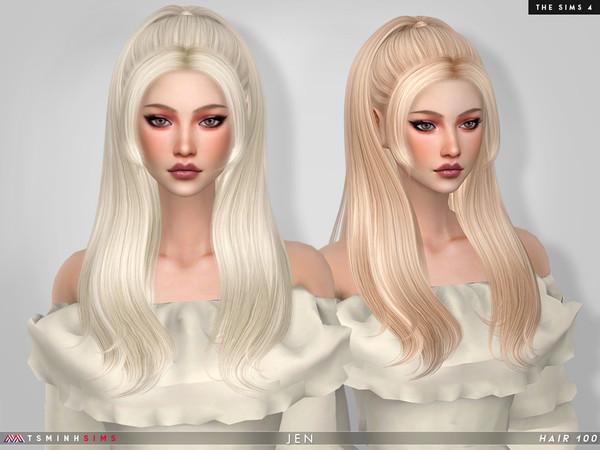 Sims 4 Jen Hair 100 by TsminhSims at TSR