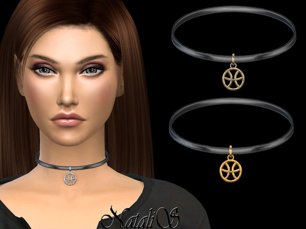 Pisces pendant choker by NataliS at TSR image 674 Sims 4 Updates
