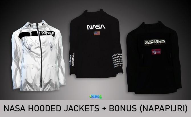 NASA HOODED JACKETS at Rimshard Shop image 675 670x413 Sims 4 Updates