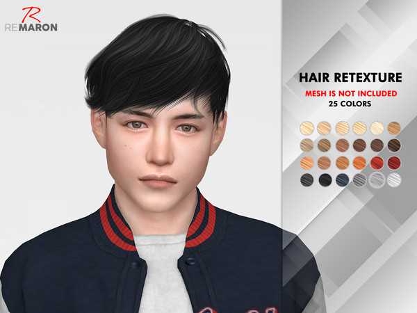 Sims 4 OE0326 Hair Retexture by remaron at TSR