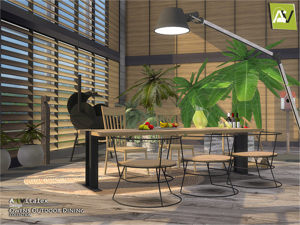 Owens Outdoor Dining by ArtVitalex at TSR image 6810 Sims 4 Updates