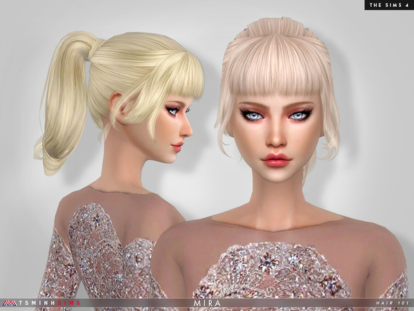 Sims 4 Mira Hair 101 by TsminhSims at TSR