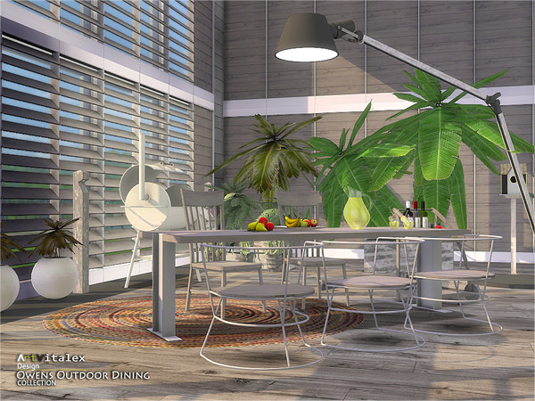 Owens Outdoor Dining by ArtVitalex at TSR image 6910 Sims 4 Updates