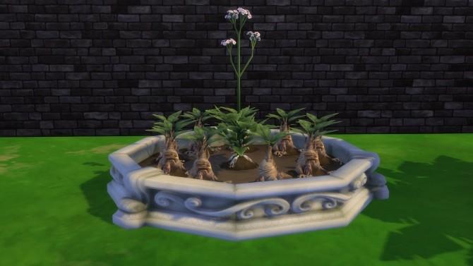 Sims 4 Circle Planter box by Serinion at Mod The Sims