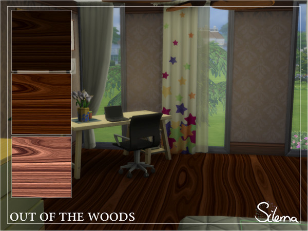 Sims 4 Out of the Woods floors by Silerna at TSR