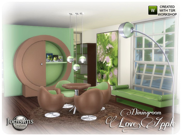 Love apple Dining room by jomsims at TSR image 6918 Sims 4 Updates