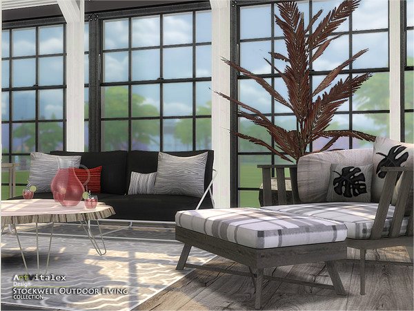 Stockwell Outdoor Living by ArtVitalex at TSR image 699 Sims 4 Updates