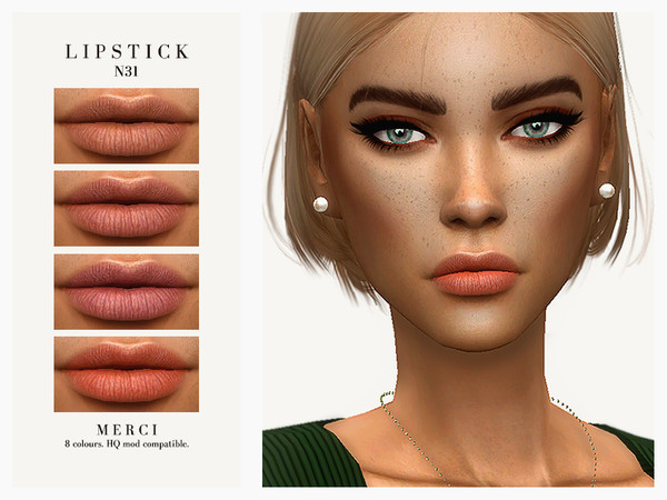 Sims 4 Lipstick N31 by Merci at TSR