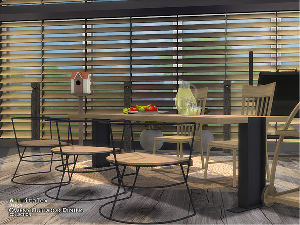 Owens Outdoor Dining by ArtVitalex at TSR image 7010 Sims 4 Updates