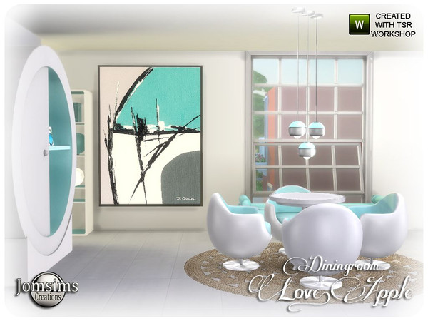 Love apple Dining room by jomsims at TSR image 7019 Sims 4 Updates