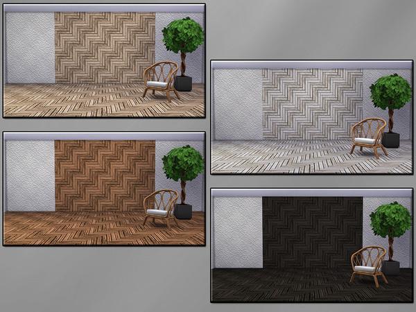 Med Herringbone Parquet SET by matomibotaki at TSR image 7110 Sims 4 Updates