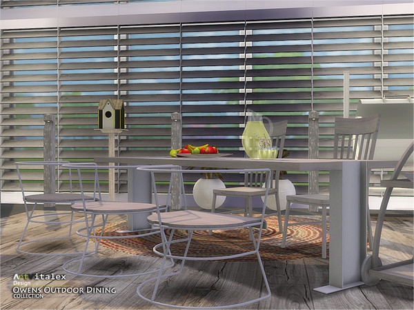 Owens Outdoor Dining by ArtVitalex at TSR image 7114 Sims 4 Updates