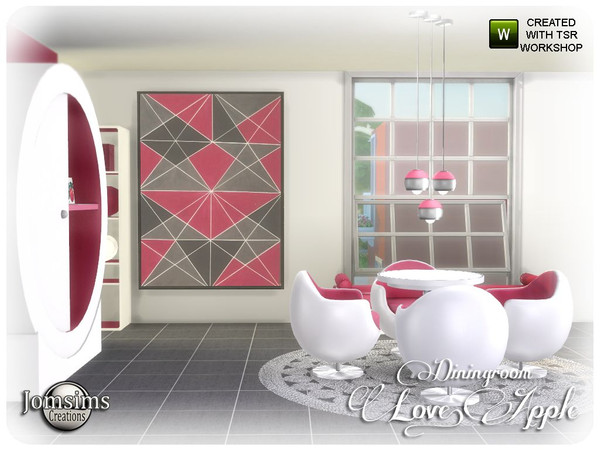 Love apple Dining room by jomsims at TSR image 7123 Sims 4 Updates