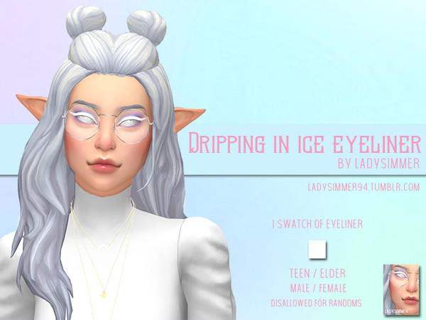 Sims 4 Dripping In Ice Eyeliner by LadySimmer94 at TSR