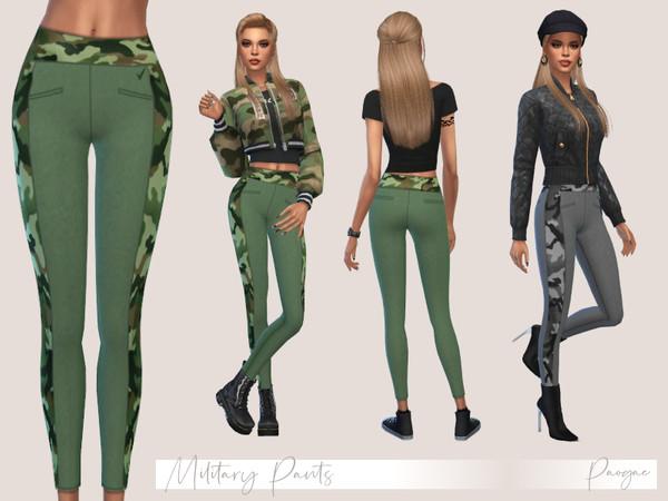Sims 4 Military Pants by Paogae at TSR