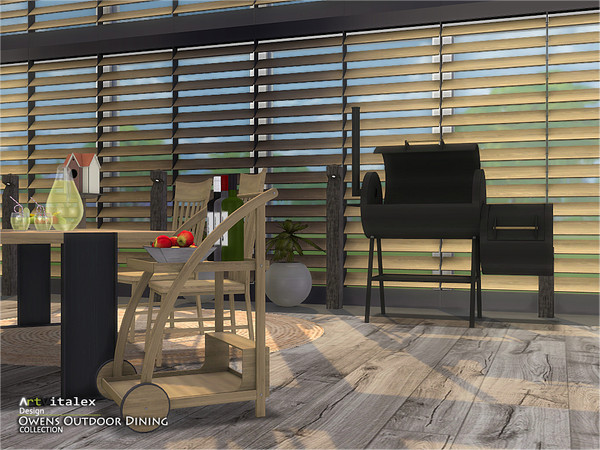 Owens Outdoor Dining by ArtVitalex at TSR image 7212 Sims 4 Updates