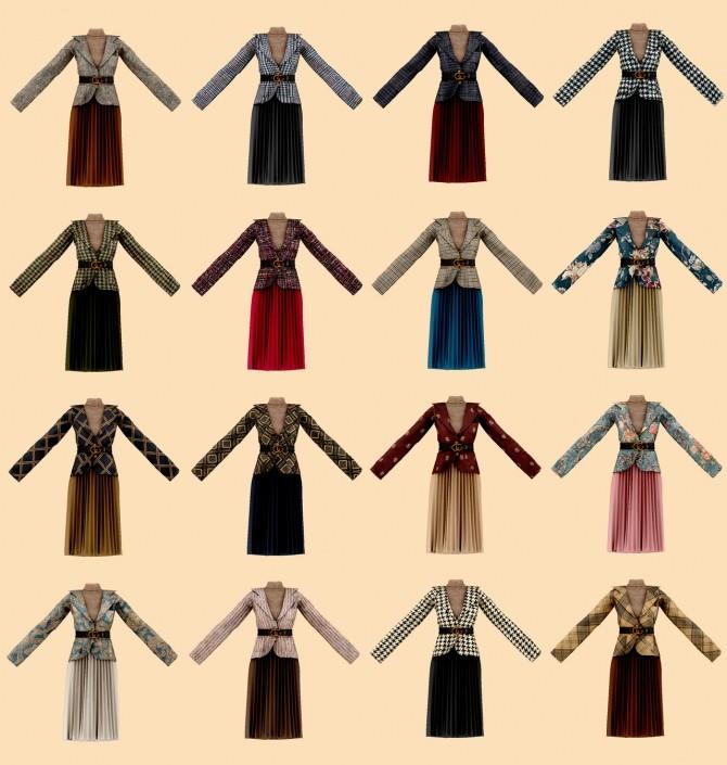 Belt jacket & pleated skirt at RIMINGs image 725 670x705 Sims 4 Updates