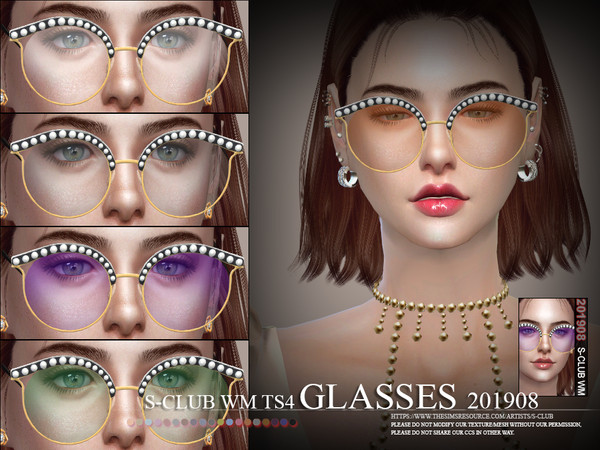 Glasses 201908 by S Club WM at TSR image 726 Sims 4 Updates