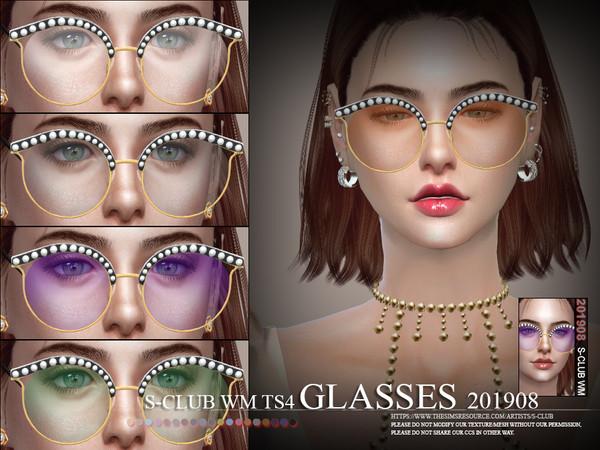 Sims 4 Glasses 201908 by S Club WM at TSR