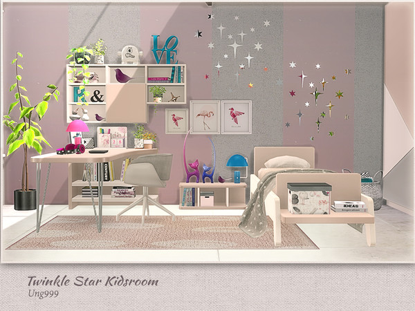 Twinkle Star Kidsroom by ung999 at TSR image 7316 Sims 4 Updates