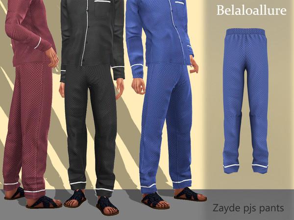 Sims 4 Belaloallure Zayde pjs pants by belal1997 at TSR