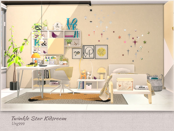 Twinkle Star Kidsroom by ung999 at TSR image 7415 Sims 4 Updates