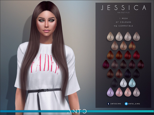 Sims 4 Jessica Hairstyle by Anto at TSR