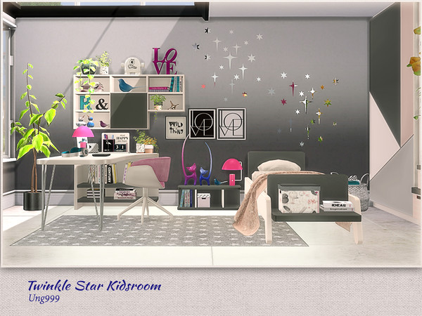 Twinkle Star Kidsroom by ung999 at TSR image 7514 Sims 4 Updates