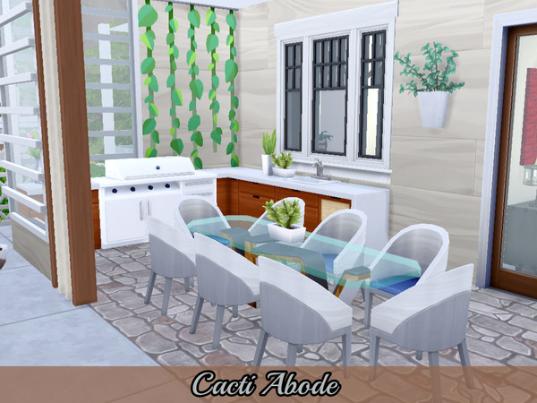 Cacti Abode modern home by Mini Simmer at TSR image 760 Sims 4 Updates