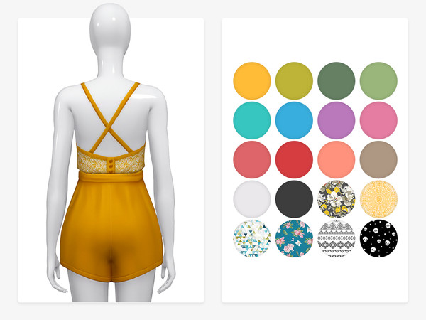 Sims 4 Twinkle Romper by Nords at TSR