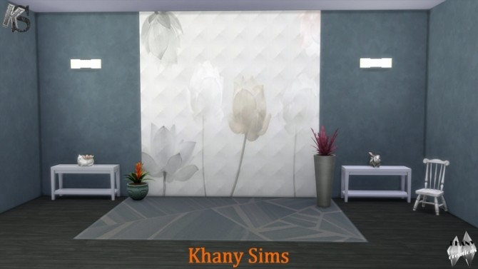 Sims 4 Espace fleuri and flower dream wall panels at Khany Sims