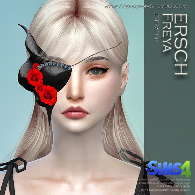 Sims 4 Freya Eyepatch for TS4 at ErSch Sims