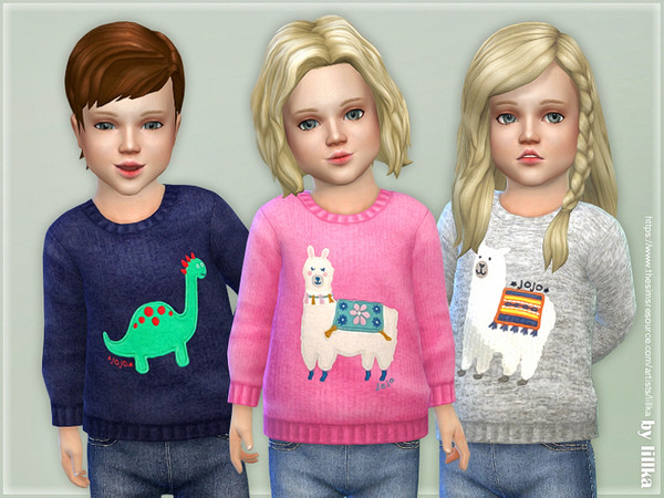 Sims 4 Cozy Animal Sweater 02 by lillka at TSR