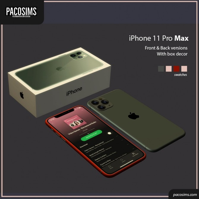 iPhone 11 Pro Max (P) at Paco Sims image 8010 670x670 Sims 4 Updates