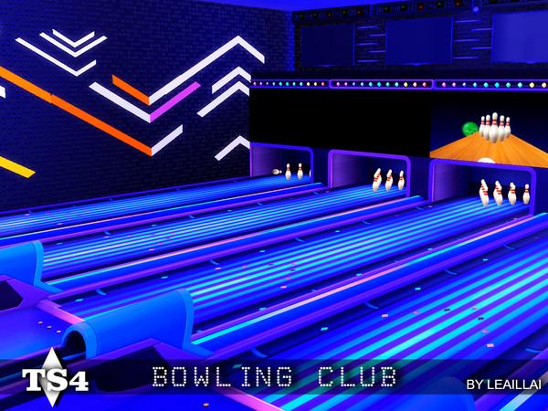Sims 4 Bowling Club by LeaIllai at TSR