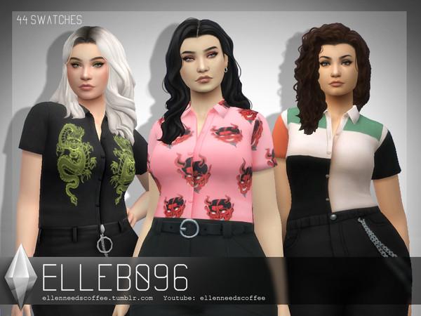 Warhol Button Up Shirt by Elleb096 at TSR image 8103 Sims 4 Updates