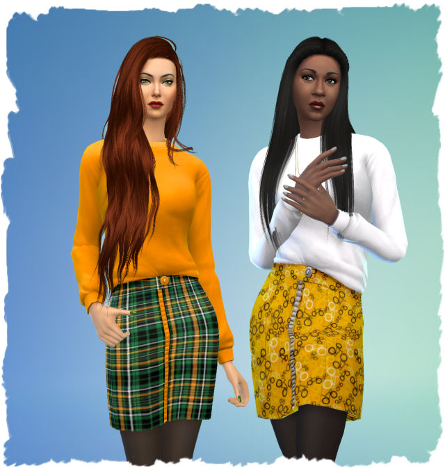 Sims 4 Skirt and sweater combination 2 by Chalipo at All 4 Sims