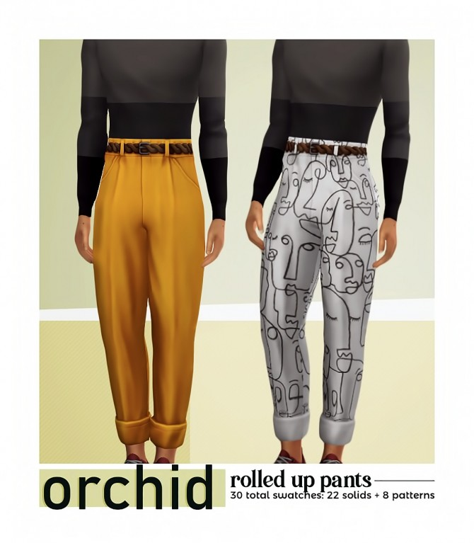 Sims 4 ORCHID rolled up pants at Viiavi
