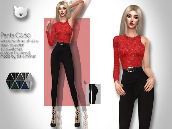 Sims 4 Pants C080 by turksimmer at TSR