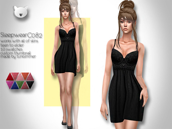 Sims 4 Sleepwear C082 by turksimmer at TSR