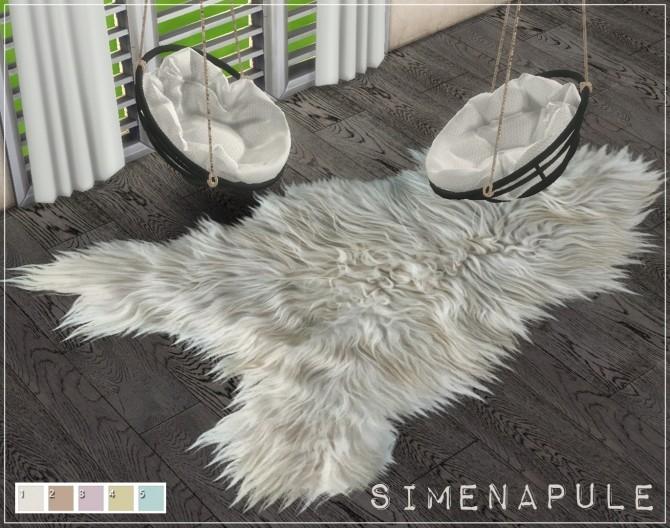 Sims 4 Amanda Fur Rug by Ronja at Simenapule