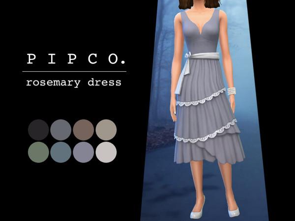 Rosemary dress by Pipco at TSR image 829 Sims 4 Updates