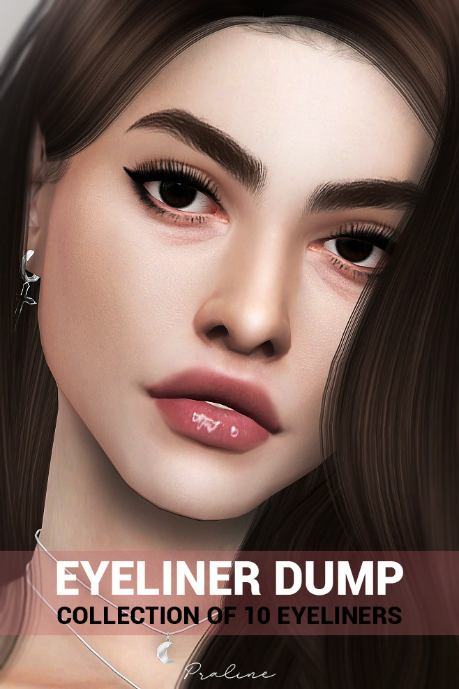 10 Eyeliners Dump collection at Praline Sims image 849 Sims 4 Updates