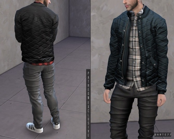 Sims 4 Quilted Jacket (P) at Darte77